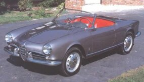 Pinin Farina designed the convertible body after Alfa Romeo rejected an open-car proposal from Nuccio Bertone.