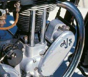 AJS bikes had distinct generator-drive covers.