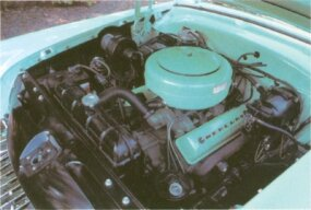 The 1954 Mercury Sun Valley featured a ball-joint front suspension and a new overhead-valve V-8.