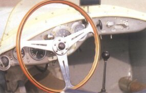 The cockpit of this OSCA racer was designed for pure performance.