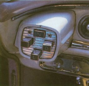 "Dodge described its new pushbutton controls as ""The Magic Touch of Tomorrow."""
