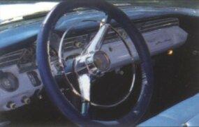 The dash of the 1956 Pontiac Star Chief Safari