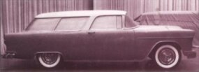 By March 11, 1954, design work was largely completed, thought the rear wheel openings seen here are much smaller than on the production Nomad.