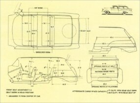 Interior body dimensions of the Nomad and Pontiac Star Chief Safari