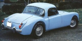 The 1960 MGA 1600 coupe continued as an alternative to the roadster.