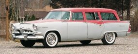 With an available 193 horsepower, the 1955 Dodge Royal Sierra Custom station wagon was powerful and practical.
