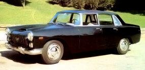 This production 1960 Flaminia sedan is a descendant of the 1955 Lancia Florida.