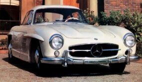The Gullwing 300SL was inspired by the 1952 SLR racer.