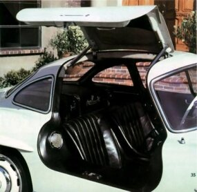 Years later John DeLorean would try to mimic the 300SL's unusual gullwing doors in his legendary failed enterprise.