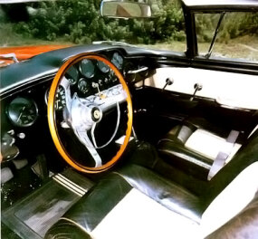 Seating in the 1956 Ferrari 410 Superamerica was restricted to two passengers.