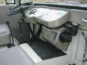 The 1957-1965 Jeep's instrument panel was simple and efficient, with bus-like features.