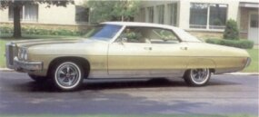Sales of the 1970 Pontiac Bonneville, including the hardtop sedan, continued their downward trend.