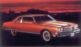 Downsizing the Pontiac helped boost sales of the 1977 Bonneville coupe.