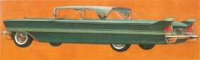 This 1958 Packard rendering shows only minor trim changes that are usual for a new design in its second season.
