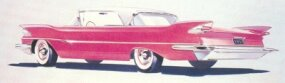 A rear view of the Clipper concept sketch. A showroom 1957 Clipper would not have looked nearly so long and low as shown here.