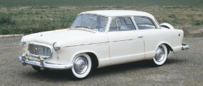 The two-door sedan, like this 1960 Rambler American Custom, continued to be a popular choice with buyers.