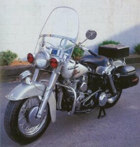 A siren and red lights marked this bike as a Harley-Davidson Police Special.