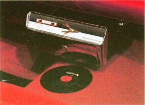 An unusual option of the 1961 Dodge Matador was the Highway Hi Fi 16 2/3-rpm record player.