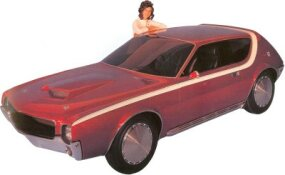The AMX-GT concept car of 1968 predicted the AMC Gremlin of 1970, but looked far more stylish.
