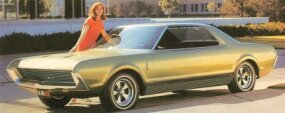 The AMX II concept car was longer than the original AMC AMX concept and included hidden headlamps.