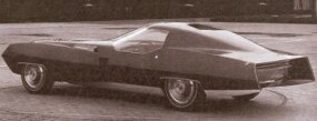 "Approved in December 1966, project XP-840 continued the ""substantial look"" of earlier Cadillac concept cars. Note the ""outrigger"" fenders."