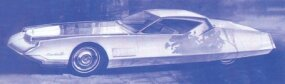 This V-12 hardtop coupe concept car was proposed in May 1963. Its rear fender lines would show up in modified form on the 1967 Cadillac Eldorado.