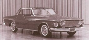 This more-symmetrical 1962 Dodge S-series mockup wears near final styling, though the bright side trim was dropped for production versions.