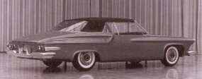 "One of two final DeSoto S-series mockups shows a relatively subtle ""chicken-wing"" rear fender."