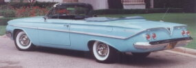 The first convertible in the series was adorned with Bel Air's subtle fittings.