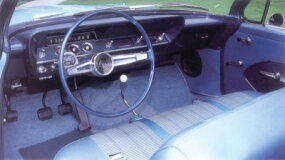 The tachometer on the steering column was factory optional.