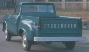 Though the front half of the 1961 Studebaker Champ was basically a Lark sedan, the chassis and cargo box were real truck pieces.