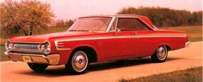 In 1964, Dodge offered drag racers a 426 Hemi engine in a lightweight 330 body -- a very potent package.