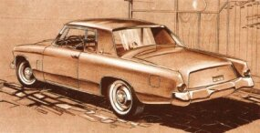 A number of possible taillight variations were tried with the 1962 Studebaker Gran Turismo Hawk, all with the requirement that they bolt on to the existing bodywork.