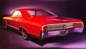 1965 Buick Wildcat output doubled to just over 84,000 units -- Wildcat's all-time record.