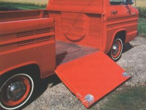 The Rampside had a door on the side of the truck bed that could be used as a ramp.