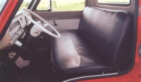 The truck's interior was basic, with a radio and four-speed transmission.