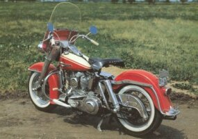 This Harley-Davidson FL Duo-Glide is unusual in that it lacked a Buddy Seat.