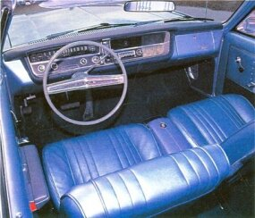 A buckets-and-console interior added to the 1965 Skylark's sporting nature.