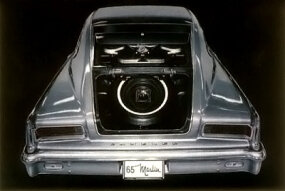 The Marlin's flowing roofline design resulted in a rather small trunk lid.