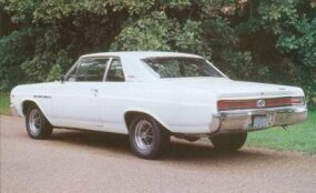 This 1965 Buick Gran Sport coupe's four-speed transmission was an added-cost option.