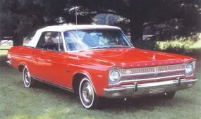 Added as the top-line offering in 1965 was the Plymouth Satellite, which came standard with a 273-cid V-8.