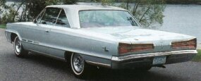 The 1966 Monaco 500's taillights were more pronounced versions of the delta-shaped lamps first seen on the 1965 Dodge Monaco. The base price of the Monaco 500 rose by about $250 over that of its 1965 counterpart.