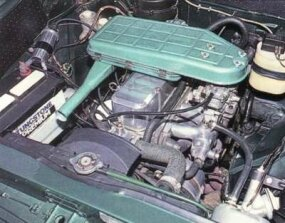 A look at the engine of a 1965 Humber Sceptre Mark II.