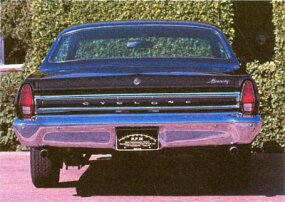 The 1967 Mercury Cyclone GT bore vertical taillights, which were previously horizontal.