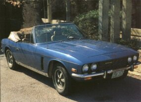 The badge announces that this Interceptor convertible is a Mark III, in this case a 1974 model.
