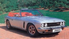 The 1975 Jensen Interceptor lineup included a soft top convertible.