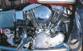 The new Shovelhead engine had valve covers resembling inverted shovel blades, hence the name.