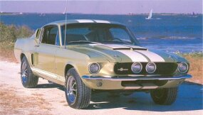 The 1967 Shelby GT-500 boasted a 428 V-8 rated at a conservative 355 bhp.