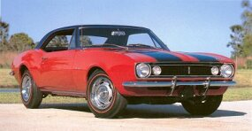 Production jumped to 7,199 for the 1968 Chevrolet Camaro Z-28, which added stronger rear springs along with optional four-wheel disc brakes and dual-quad manifold.