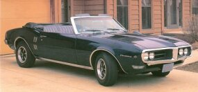 The sporty 1968 Firebird Sprint convertible included a 250-cid overhead cam six engine with 215 bhp.